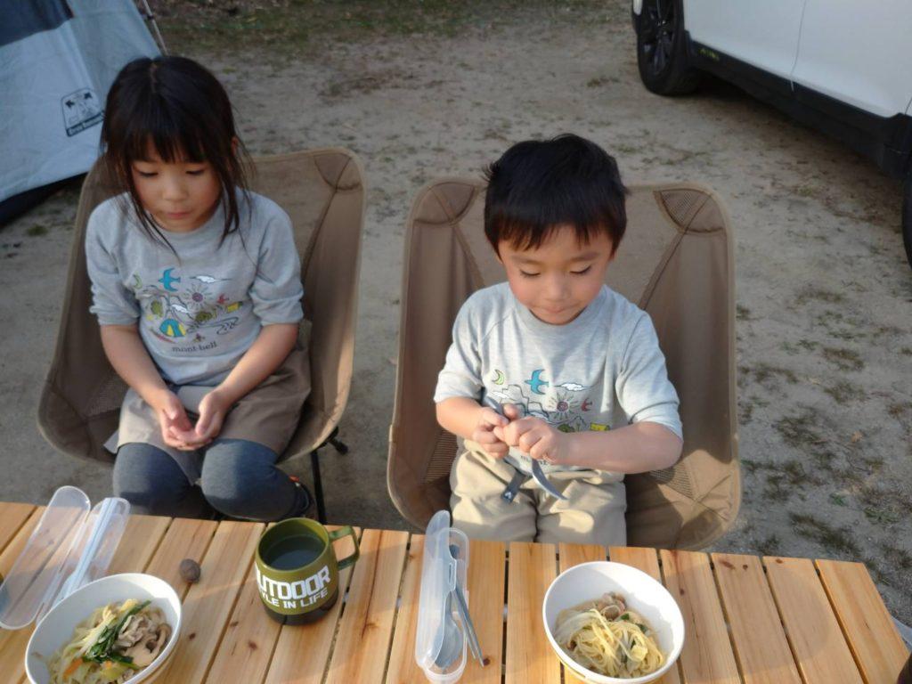 キャンプ夕飯